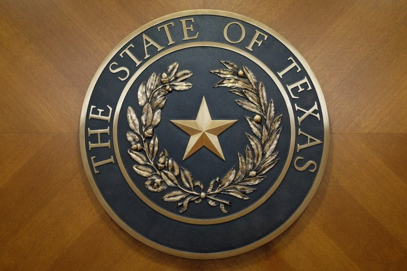 the government seal of texas star